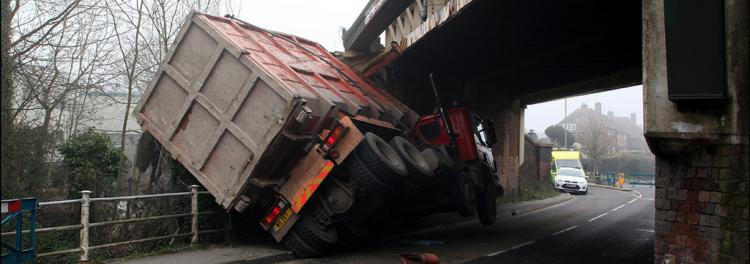lorry crash bridge