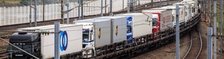 Eurotunnel freight trucks