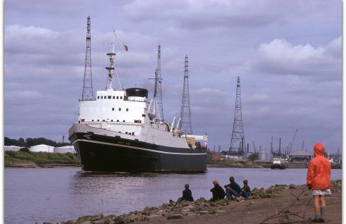 Preston Docks MV Ionic RoRo Ferry