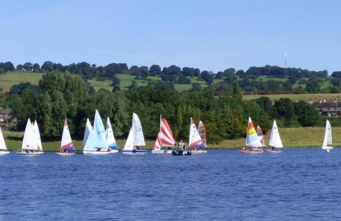 First day season 2017 at Sailfree Otley Sailing Club